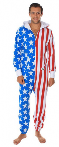 American Flag Jumpsuit - Comfy USA Clothing Item by Tipsy Elves
