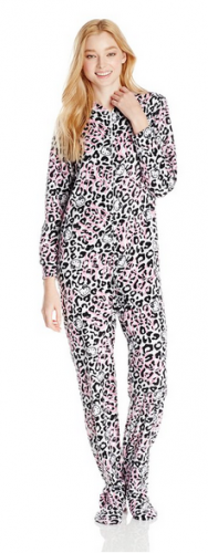 Hello Kitty Women's Fair Isle-Print Footed Jumpsuit