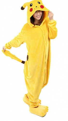 WOWcosplay Pikachu Onesie Kigurumi Pajamas Unisex Adult Cosplay Costume Animal